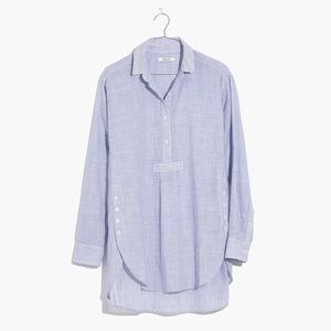 Madewell side-button popover shirt in stripe